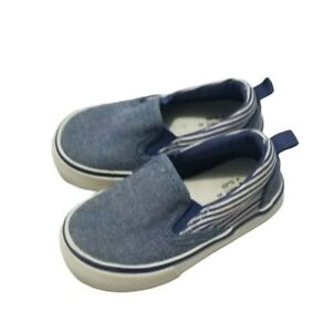 Baby Gap Size 5 Blue Chambray Slip On Canvas Sneakers Boat Shoes Baby Boys Used