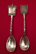 """Vintage Sterling Silver & Stainless Desert Spoons Signed """"T.P.P."""""""