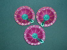 Set of 3 Clay Decorated Divas Diyas Diwali Hindu Festival Light Pooja & Prayer