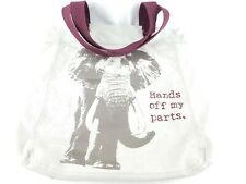 "WWF ""Hands Off My Parts"" Elephant Tote Bag World wildlife"