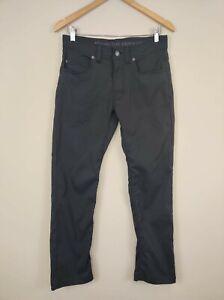 Prana Mens Brion Slim Fit Nylon Stretch Pants 30W x 29L Outdoor Hiking