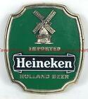 Nice 1970s HEINEKEN BEER 9½ inch Easel Back Back Bar Sign TavernTrove