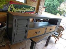 Fabrication sur mesure meuble Tv industriel bois métal