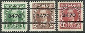 Canada London Precancels 5-231 5-232 5-233