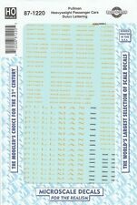 HO Scale Microscale 87-1220 Pullman Heavyweight Passenger Cars Dulux Lettering
