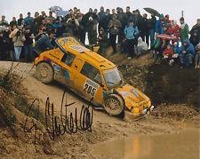 Ari Vatanen Firmada A Mano Peugeot 10x8 Foto Rally Campeón del Mundo 17.