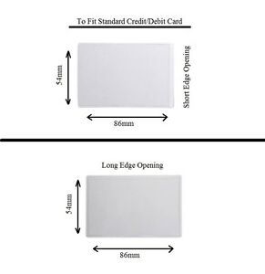 Credit Debit Card Clear Plastic Dust Cover Driving Licence Protector ID Sleeve