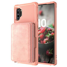 For Samsung Note 10 Plus 10 Case Zipper Leather Card Holder Wallet Stand Cover