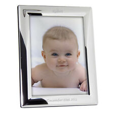 """Personalised Silver Plated Photo Picture Frame - 5"""" x 7"""" Engraved Gift New Baby"""