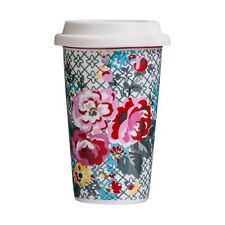 330ml Pippa Floral Travel Mug (double Walled) - Double Silicone Coffee Wall