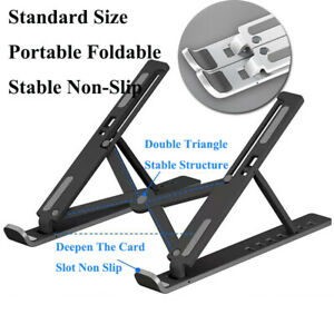 Portable Adjustable Notebook Laptop Stand Foldable Home Office Computer Holder