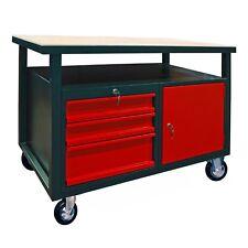 Werkbank Werktisch 40911 120x60cm auf Rollen Schubladen Werkstatttisch 915066