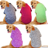 Large Puppy Dog Cat Vest Sweater Winter Clothes Pet Coat Jacket Apparel Costume