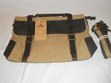 NWT S-Zone Leather & Canvas Laptop Messenger Bag