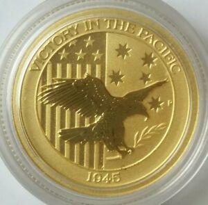 2017 P Australia $15 1/10oz Gold Victory in the Pacific 1945 Commemorative