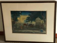 "CHARLES W. BARTLETT ""Peshawar"", Woodcut, 1919"
