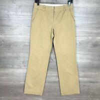 "J. Crew Women's Size 0 Cafe Trouser Pants Tan Khaki 32"" Inseam"