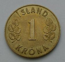 Iceland 1 Krona 1946. KM#12. One Dollar coin. One Year Issue only. Island.