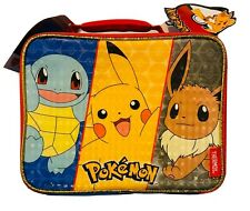Thermos Pokemon Antimicrobial Lunch Box Bag Soft Insulated Lunchbox Kit Pikachu