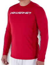 PowerNet Men's Performance Training Athletic Long Sleeve Shirt Loose Fit Tagless