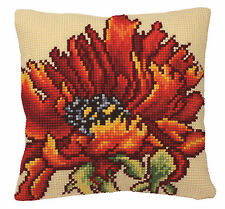 Collection D'Art Cross Stitch Cushion Kit: Delicious Poppy CD5166