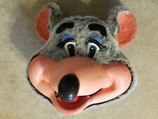 Vintage Chuck E Cheese Walkaround Mascot Mouse Cosplay Costume Head - Very Rare!