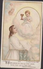 IMAGE PIEUSE HOLY CARD SANTINI O JESUS DELICES DE CEUX QUI VOUS AIMENT