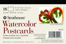 Strathmore 704 4 Blank Watercolor Postcard Pad Of 15 140lb Cold Pressed 4x 6