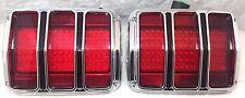 1965 1966 Ford Mustang LED Tail light Assembly Lens Bezels Housings NEW PAIR