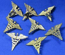 WWII Army Medical Doctor, Dentist, Nurse, Administration Officer Insignia Lot
