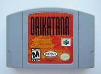 John Romero's Daikatana Nintendo 64 N64 Authentic OEM Video Game Cart Rare GOOD!