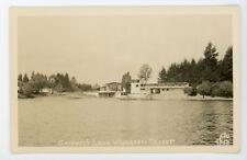 Gaffney's Lake Wilderness Resort  Vintage real photo postcard RPPC