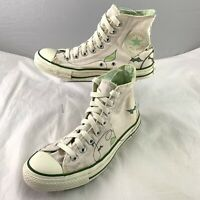 Converse All Star Womens Floral Vine Hi UK 7 Height Top Faint Pink / White Vines