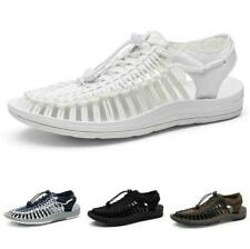 Men's Braided Sandals Shoes Flats Beach Hollow out Breathable Slip on Sport Size