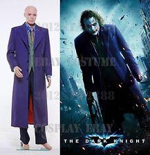 Batman Dark Knight Joker Costume Set Gabardine Trench Coat Cosplay Halloween