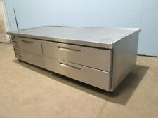 """""""Omniteam"""" H.D.Commercial S.S.(86""""W) Refrigerated 3 Drawers Chef-Base w/Casters"""