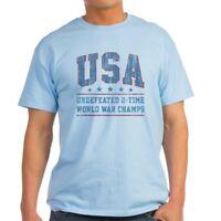 CafePress USA World War Champs T Shirt 100% Cotton T-Shirt (1800410839)