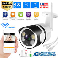 Wireless Outdoor IP Camera FHD 1080P WiFi 4X ZOOM CCTV Security IR Webcam US