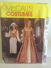 McCalls 2793 Elizabethan Renaissance Costume Cosplay Dress Pattern 8-12 Uncut