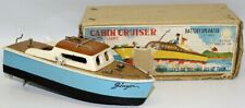 Vintage LINEMAR (Japan) Battery Op. J-1889 Wooden 'Ginger' Cabin Cruiser Boat