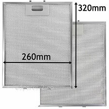 2 x Metal Mesh filter For ROSIERES Cooker Hood Vent Filters 320 x 260 mm