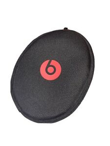 NEW Genuine Beats by Dr. Dre Headphone Black Red Soft Carrying Case w/zipper