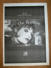 SIOUXSIE AND THE BANSHEES - THE RAPTURE - ORIGINAL advert POSTER 1995 - 16 X 12