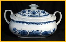 Adams Blue Butterfly Covered Vegetable Dish