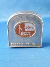 METAL TAPE MEASURE HAPPY HOME VINTAGE 10 FEET MADE IN USA