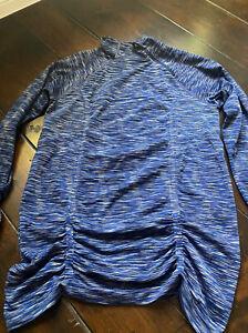 Women's Athleta Large Long Sleeve Athletic Top Shirt Blue