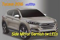 Side Mirror Cover Chrome Silver Molding LED 4P D819 for Hyundai Tucson 2016~2020