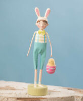 Bethany Lowe Easter Resin Figurine Bunny Dress Up Beau Michelle Lauristen