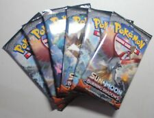 Pokemon Sun & Moon Burning Shadows Booster Pack Lot- 6 Packs!