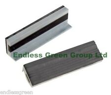 Soft Vice Jaws With Magnetic Base & Rubber Face - Fits 100mm Vice